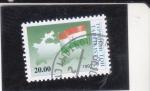Sellos de Asia - Tayikistán -  BANDERA Y MAPA