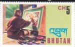 Sellos del Mundo : Asia : Bhután : PINTOR