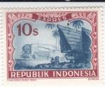 Sellos del Mundo : Asia : Indonesia : FERROCARRIL