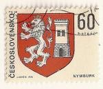 Stamps Czechoslovakia -  Escudo de armas de Nymburk