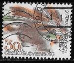 Stamps : Europe : Czechoslovakia :  Checoslovaquia-cambio