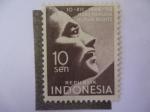 Stamps Indonesia -  10 Años de declaración Universal de Derechos Humanos-10-XII-1948/58
