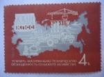 Stamps : Europe : Russia :  Mapa de Rusia - Educación y tecnología-Resoluciones del 23° Congreso del Partido Comunista.