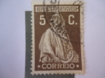 Stamps : Europe : Portugal :  Ceres-Diosa de la Agricultura-Fecundidad - reimpresión de Ceres en Lisboa