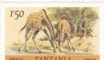 Sellos del Mundo : Africa : Tanzania : JIRAFAS