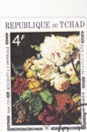 Stamps : Africa : Chad :  PINTURA FLORES FLORES-