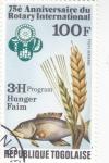 Stamps : America : Togo :  75 ANIVERSARIO DE ROTARY INTERNACIONAL