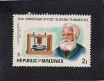 Stamps Asia - Maldives -  Alexander Graham Bell