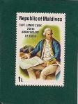 Stamps Asia - Maldives -  Cap. James Cook