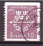 Stamps Sweden -  50 aniv. tiradores voluntarios