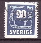 Stamps Sweden -  serie- Pinturas rupestres