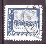 de Europa - Suecia -  serie- Caballo y vikingos en el mar