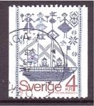 Stamps Sweden -  Tapiceria artesanal