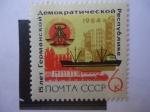 Stamps : Europe : Russia :  15° Aniversario de la República Democrática Alemana.