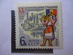 de Europa - Rusia -  20° aniversario de la liberación de Rumania.