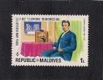 Stamps Asia - Maldives -  Thomas Edison