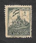 Stamps : Europe : Spain :  Frontispicio del Ayuntamiento de Barcelona