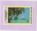 Stamps Asia - Maldives -  Velero