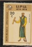 Stamps : Africa : Rwanda :  MENSAJERO