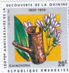 Stamps : Africa : Rwanda :  150 NIVERSARIO DESCUBRIMIENTO DE LA QUININA