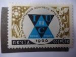 Stamps Europe - Russia -  Emblema del 7° Congreso de la Ciencia de la Cristalografía-Cristales