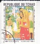 Stamps : Africa : Chad :  SOLARIDAD HUMANA- GAUGUIN