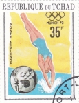Stamps : Africa : Chad :  OLIMPIADA MUNICH