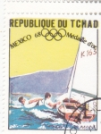 de Africa - Chad -  OLIMPIADA MEXICO-68