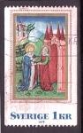 Stamps : Europe : Sweden :  Pintura medieval
