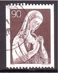 Stamps : Europe : Sweden :  Imagen en iglesia