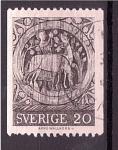 Stamps : Europe : Sweden :  Pintura