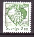 Stamps : Europe : Sweden :  Corazón