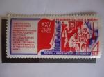 Sellos de Europa - Rusia -  Ciencia y tecnología - 25°Congreso del Partido Comunista-Unión Soviética.URSS