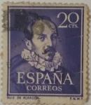 Stamps Spain -  España 20 ctvs