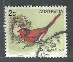 Stamps Oceania - Australia -  Crimson Finch (ave)