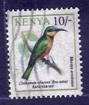 Stamps Africa - Kenya -  Merops Orreobates (ave)
