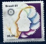 sello : America : Brasil : Rotary Internacional