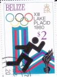 Stamps : America : Belize :  OLIMPIADA INVIERNO LAKE PLACID