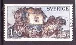 de Europa - Suecia -  Diligencia