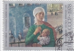 Stamps Russia -  PINTURA- MUJER Y NIÑO