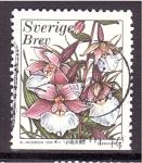 Stamps Sweden -  serie- Flores