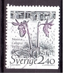 Sellos de Europa - Suecia -  serie- Plantas