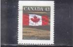 Stamps : America : Canada :  BANDERA