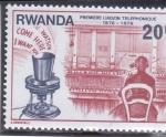 Stamps : Africa : Rwanda :  CENTENARIO PRIMERA COMUNICACIÓN TELEFÓNICA