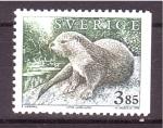 de Europa - Suecia -  serie- Fauna salvaje, Nutria