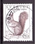 de Europa - Suecia -  serie- Fauna salvaje, Ardilla
