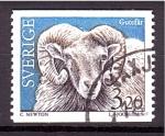 de Europa - Suecia -  serie- Ganadería, carnero