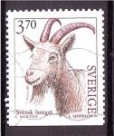 de Europa - Suecia -  seri- Amimales de ganadería, Cabra