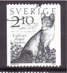 de Europa - Suecia -  serie- Fauna Local, zorro