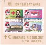 Sellos de Asia - Corea del norte -  125 ANIVERSARIO CRUZ ROJA